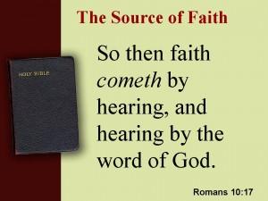 source of faith